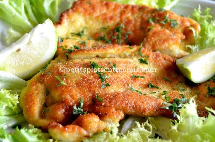 recette d'escalope de dinde aux flocons de pommes de terre