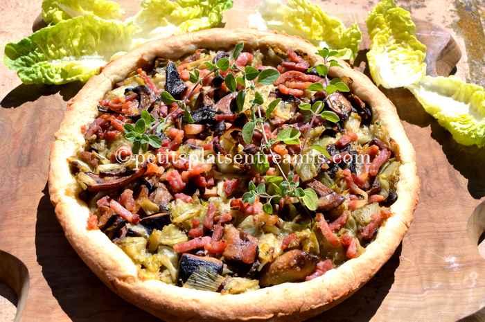 tarte-endives-et-champignons-recette