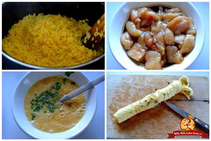 cuisson-ingredients-pour-riz-safrane-au-poulet