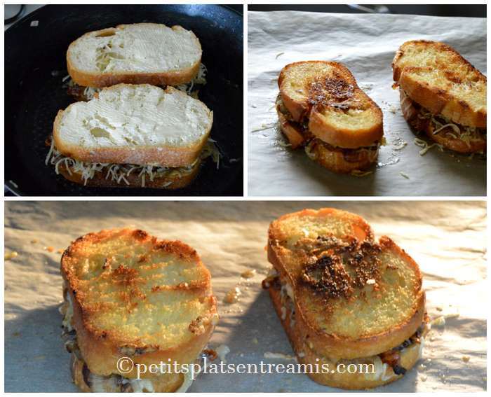 cuisson-sandwich-oignons-et-fromage