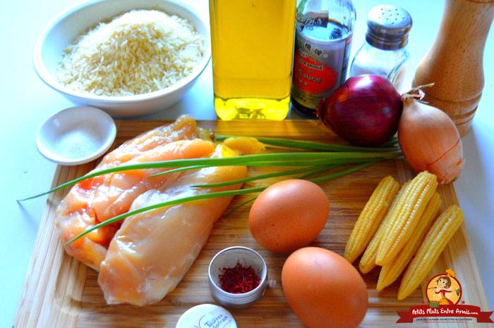 ingredients-pour-riz-safrane-au-poulet
