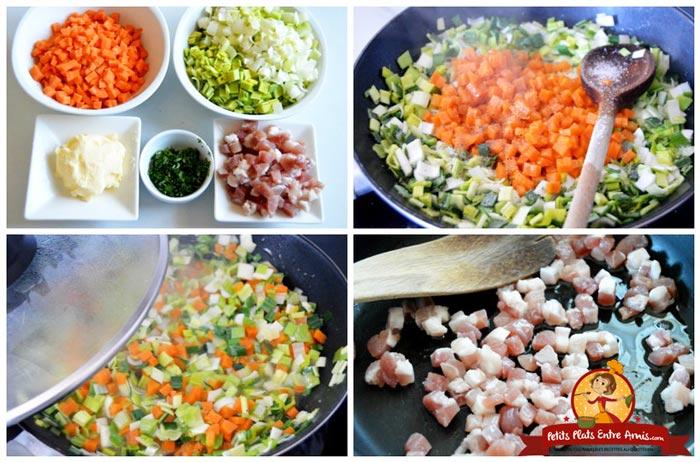 cuisson-des-legumes-et-lardons-pour-cake
