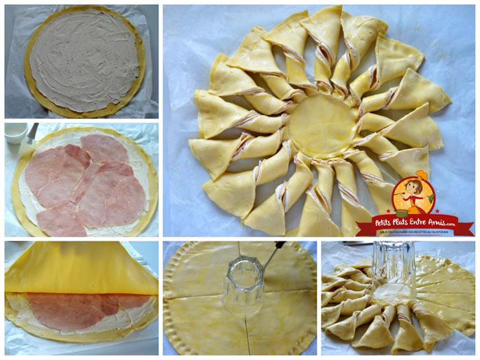 cuisson-tarte-soleil-jambon-et-fromage