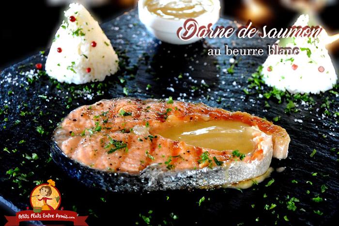 Darne de saumon au beurre blanc