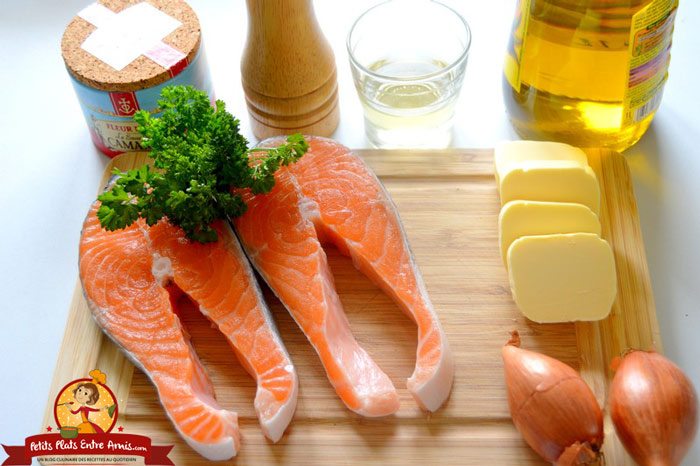 ingredients-darne-de-saumon-au-beurre-blanc