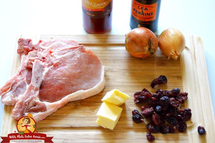 ingredients-des-cotes-de-porc-sauce-barbecue-a-lerable
