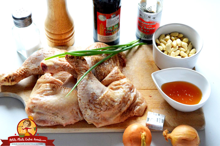 ingredients-du-poulet-aux-cacahuetes