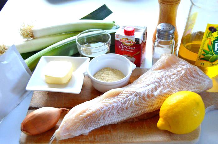 ingredients-filet-de-poisson-et-fondue-de-poireaux