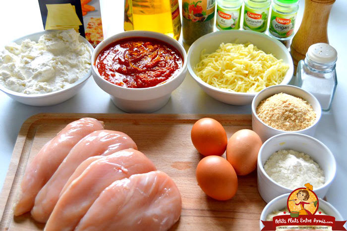 ingredients-pour-lasagnes-au-poulet