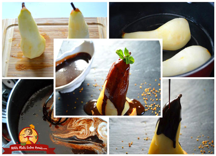 preparation-poire-au-chocolat