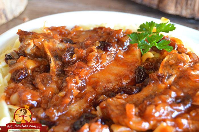 recette-de-cotes-de-porc-sauce-barbecue-a-lerable