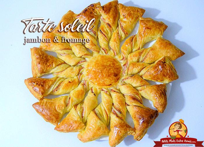 tarte-soleil-jambon-fromage