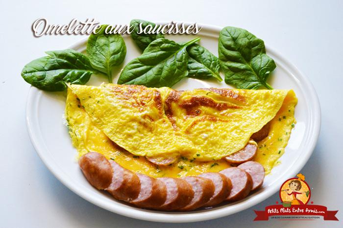 Omelette aux saucisses