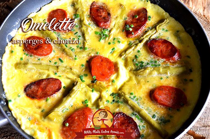 Omelette aux asperges et chorizo
