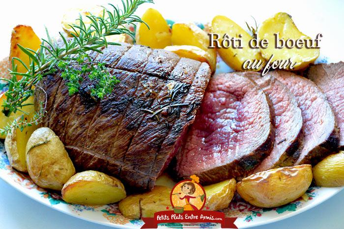 Recette du r ti de boeuf au four petits plats entre amis - Cuisiner un roti de boeuf au four ...