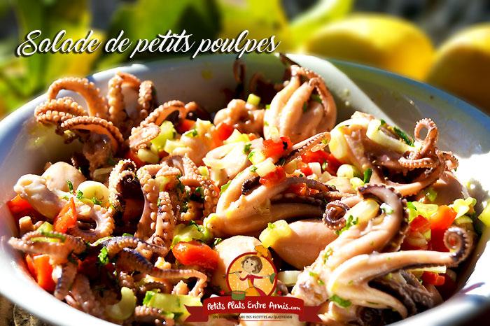 Salade de petites poulpes