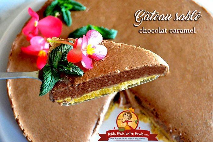 Gâteau sablé chocolat caramel