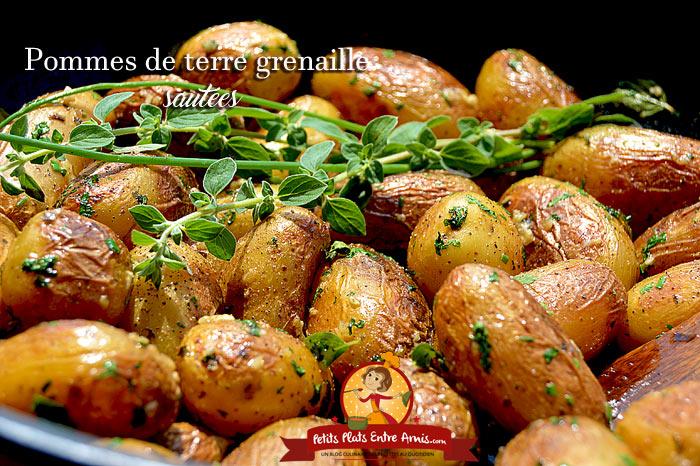 Pommes de terre grenaille saut es petits plats entre amis - Comment cuisiner les pommes de terre grenaille ...