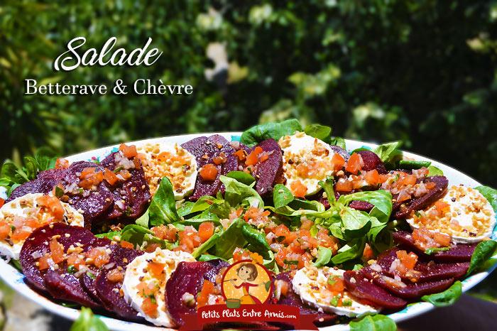 Salade de betterave et chèvre