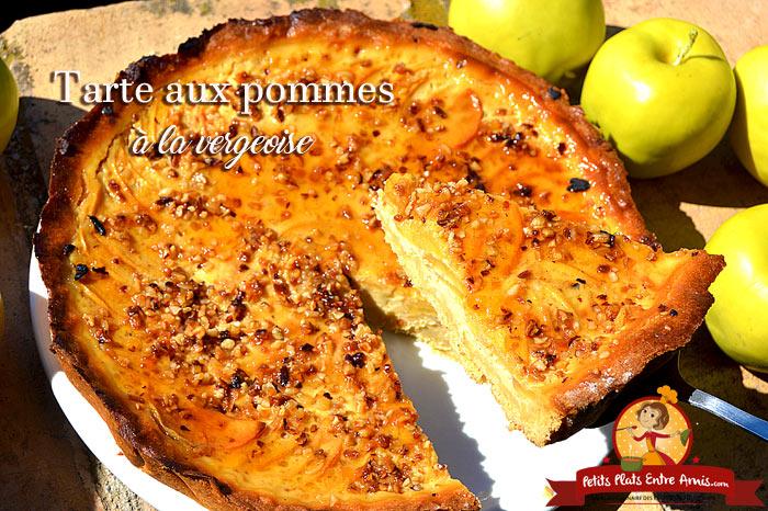 Tarte aux pommes à la vergeoise