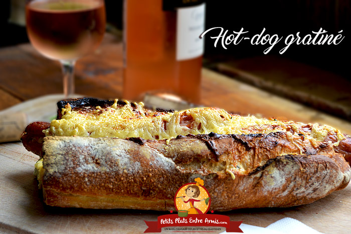 Hot-dog gratiné