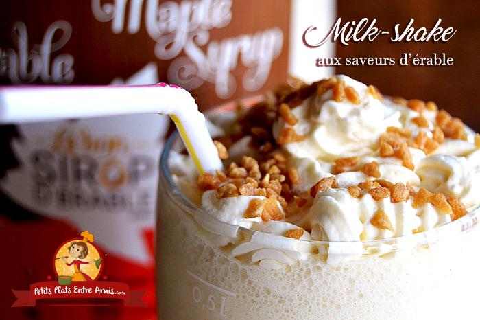 Milk-shake aux saveurs d'érable