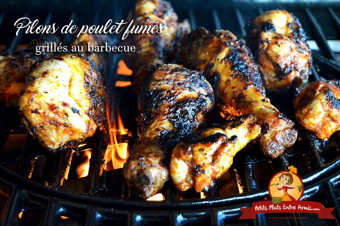 Pilons de poulet fumés grillés au barbecue