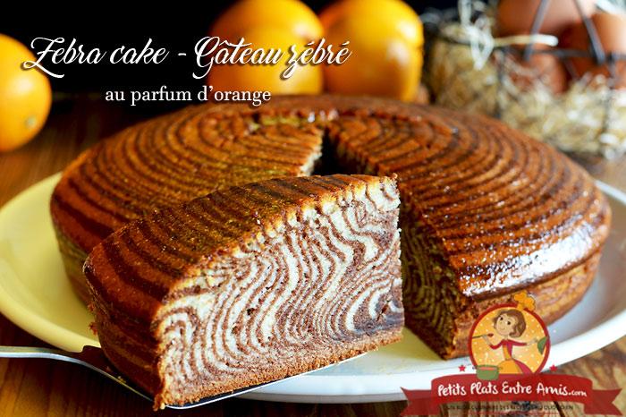 Zebra cake - Gâteau zébré