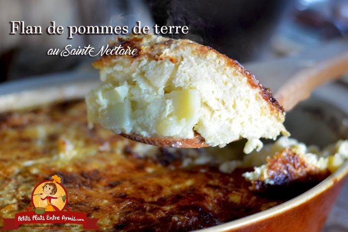 Flan de pommes de terre au Saint-Nectaire