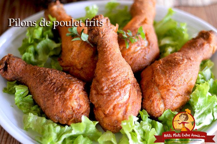 Pilons de poulet frits