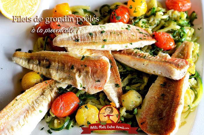 Filets de grondin poêlés à la provençale