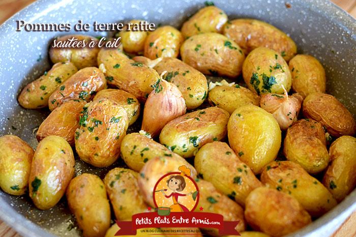 Pommes de terre ratte sautées à l'ail