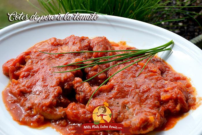 Côte de porc à la tomate