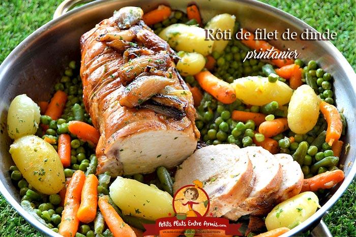 Escalope Grillée, Rôtis De Viande De Dinde Avec Des Légumes
