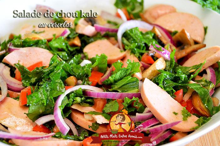 Salade de chou kale au cervelas