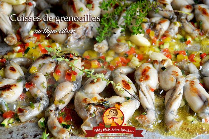 Cuisses de grenouilles au thym citron