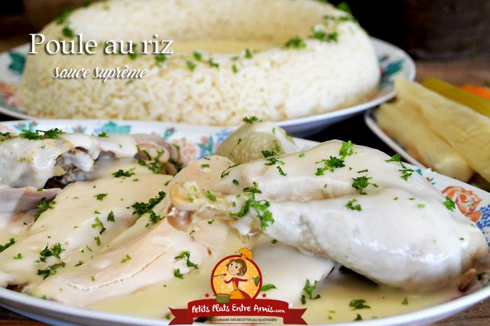 Poule au riz sauce suprême