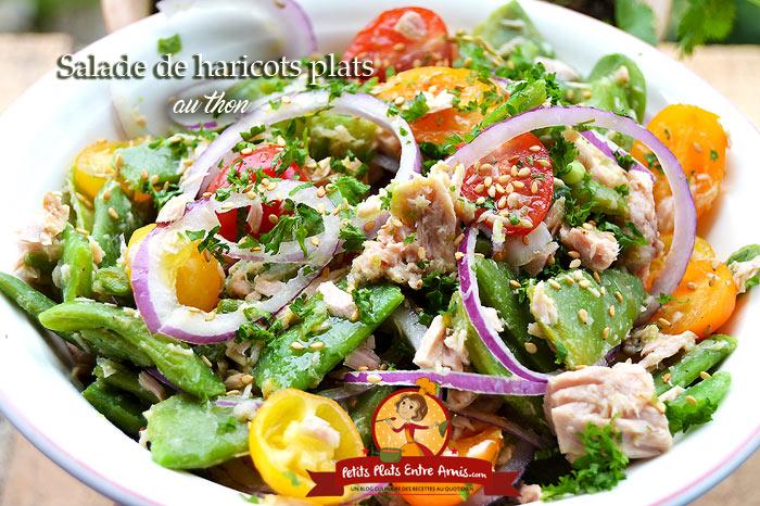 Salade de haricots plats au thon
