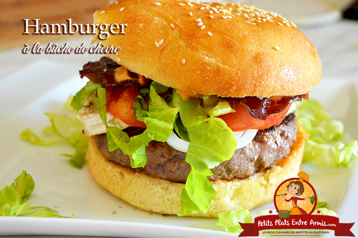 Hamburger à la bûche de chèvre