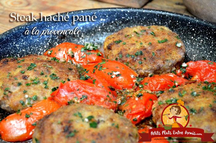 Steak haché pané à la provençale