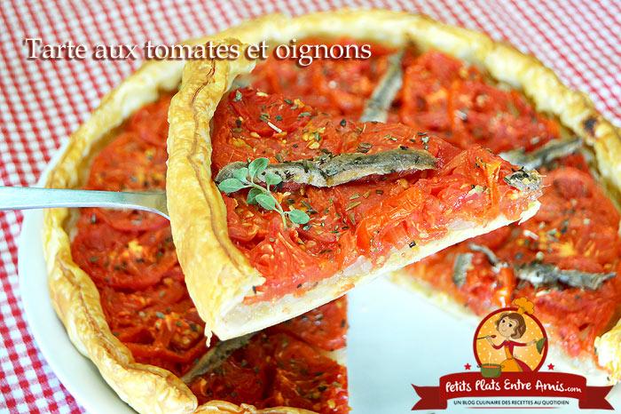 Tarte aux tomates et oignons