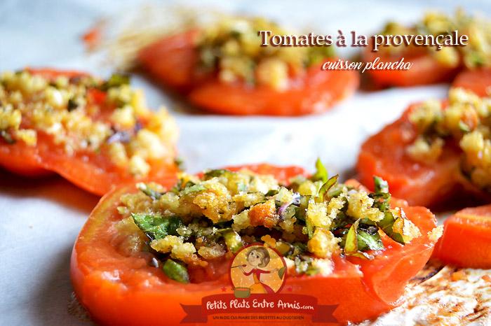 Tomates à la provençale - cuisson plancha