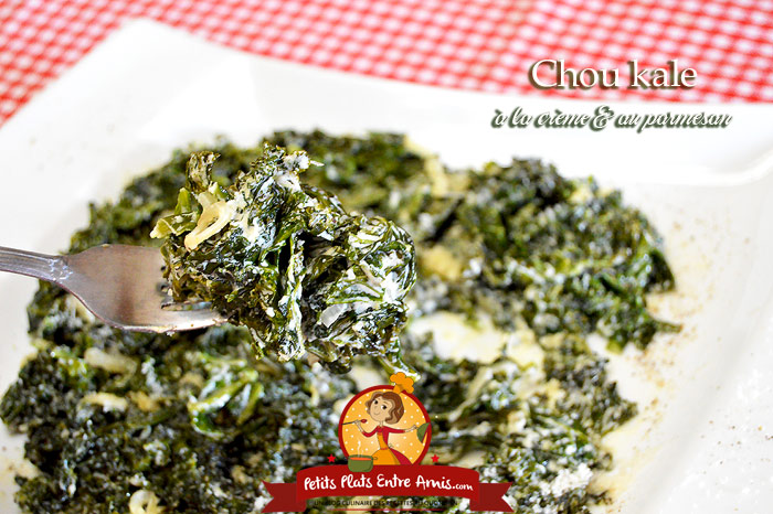 Chou kale à la crème et au parmesan