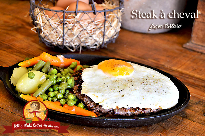 Steak à cheval façon tartare