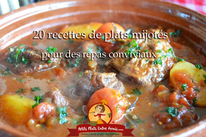 20 recettes de plats mijotés pour des repas conviviaux