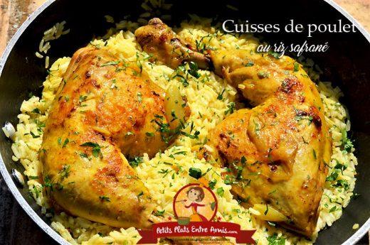 Cuisses de poulet au riz safrané