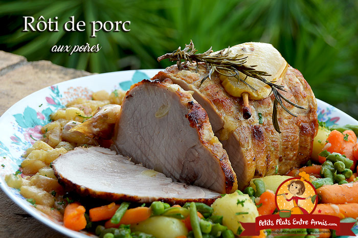 Rôti de porc aux poires