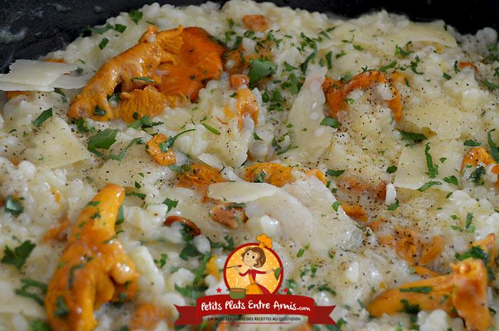 Recette de risotto aux girolles