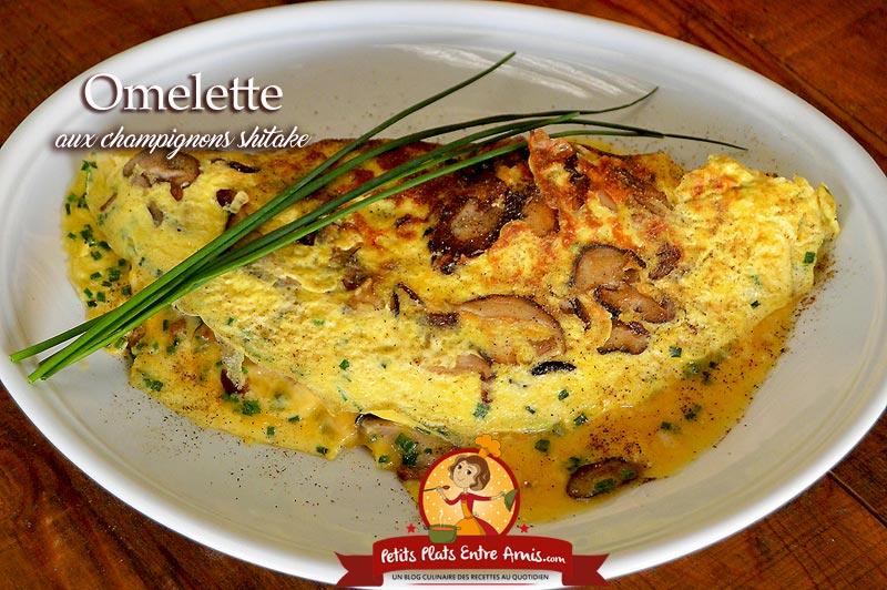 Omelette aux champignons shitake