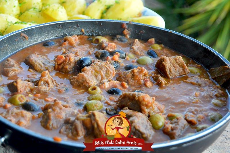 Recette de daube de boeuf aux olives